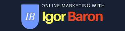 Internet Marketing Blog – Igor Baron